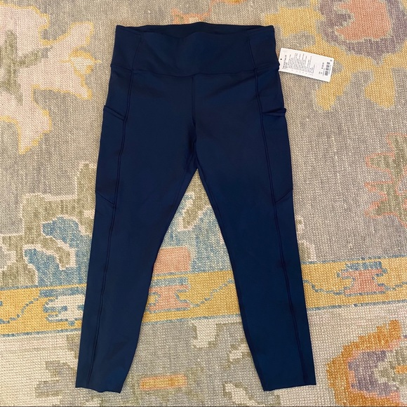 lululemon athletica Pants - Lululemon Fast and Free Navy Leggings NWT